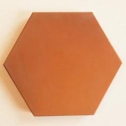 Ref : HEXAGONE MARRON CLAIR 10,7x12,3