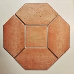Ref : NAVETTE BRUN SIENNE  15x30 + ROSE  15x15