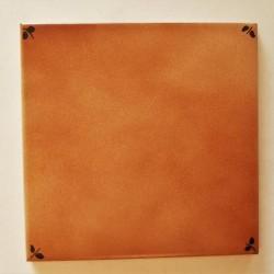 Ref : BRUN FLEURS DE COIN  15x15