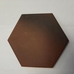 Ref : PORPHYRE HEXAGONAL BRUN  10x10