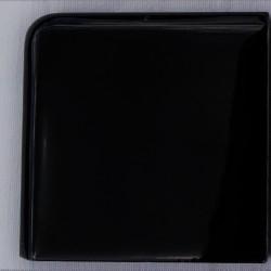 Ref : ANGLE DE PLINTHE MAJOLIC NOIR 7x7
